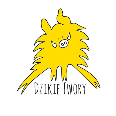 Logo Dzikie Twory - żółty Dziczek na białym tle