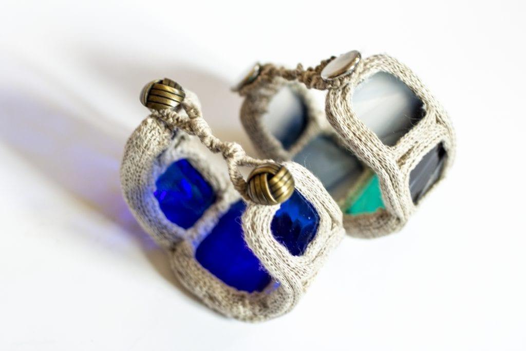 Dzikie Twory - bransoletki ze szkła i lnu
