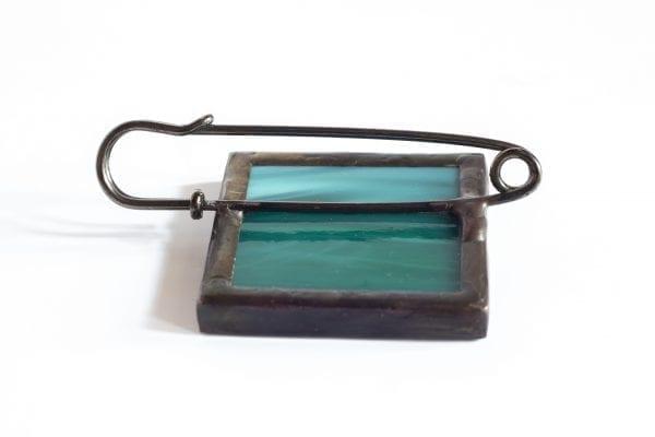 Dzikie Twory - broszka ze znaczkiem pocztowym lis tył