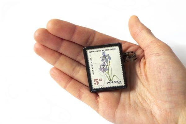 Dzikie Twory - wielkość broszki ze znaczkiem pocztowym kosaniec syberyjski