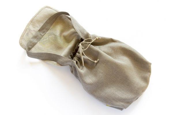 Dzikie Twory - lniana torba na zakupy z motywem palmy zaciągnięty sznurek
