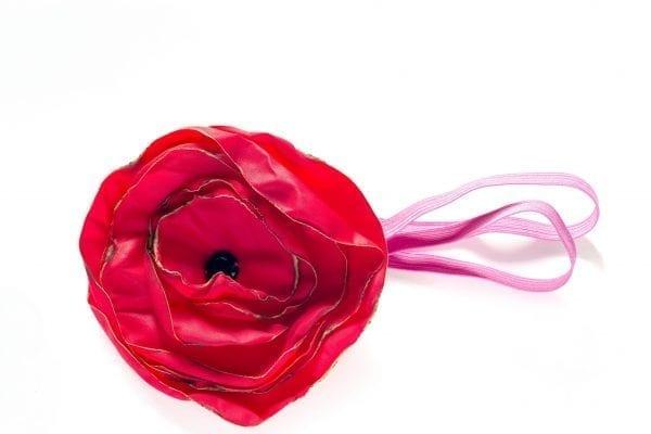 Dzikie Twory - opaska na włosy - z kwiatkiem13