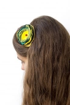 Dzikie Twory - opaska na włosy - z kwiatkiem12