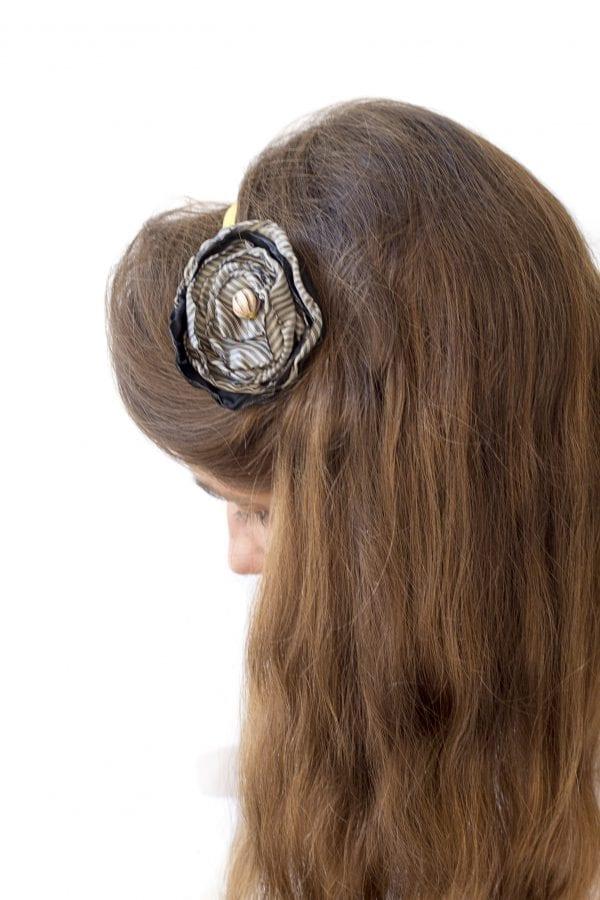 Dzikie Twory - opaska na włosy - z kwiatkiem29