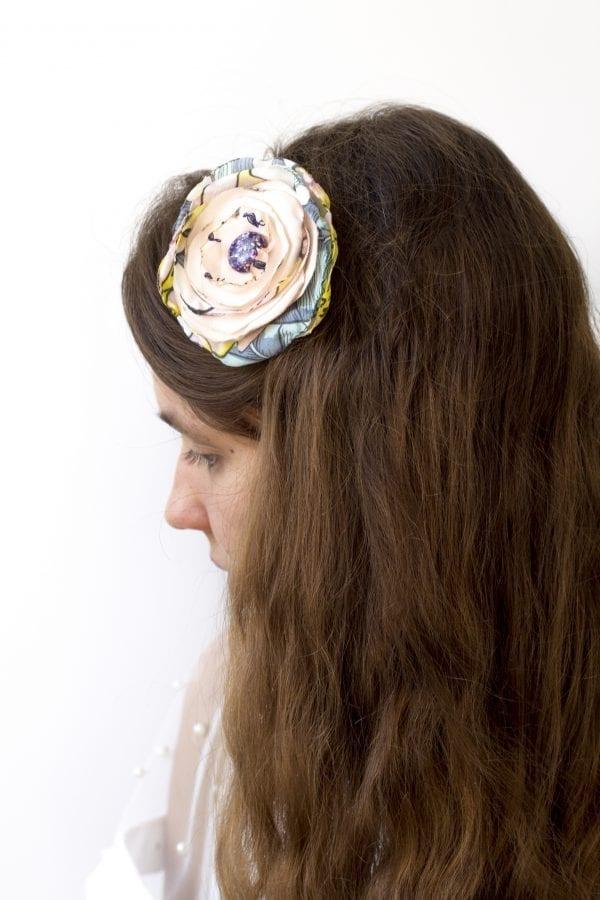 Dzikie Twory - opaska na włosy - z kwiatkiem33