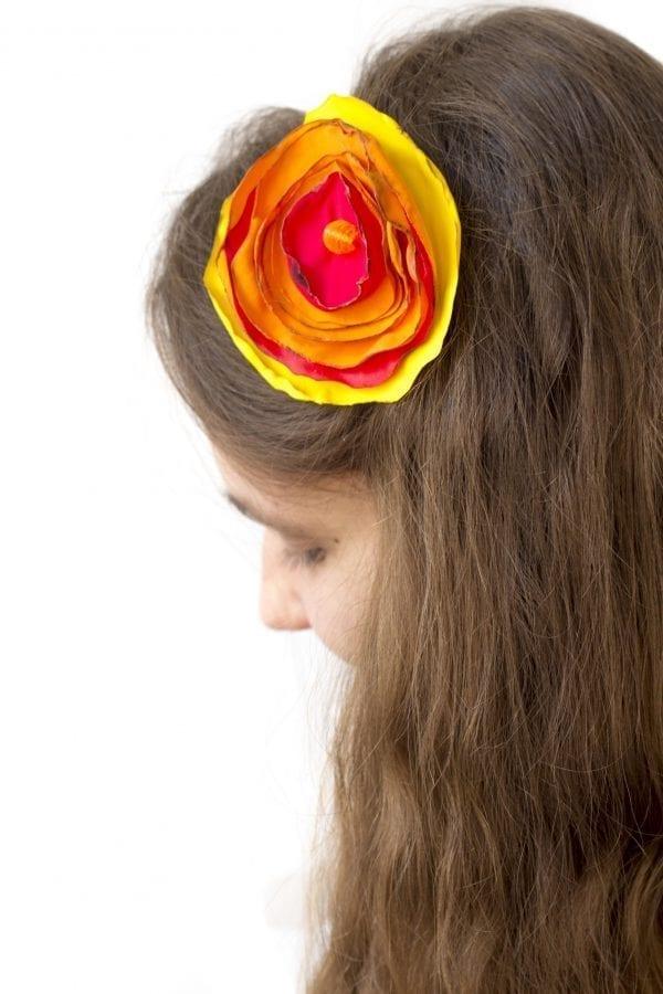 Dzikie Twory - opaska na włosy - z kwiatkiem5