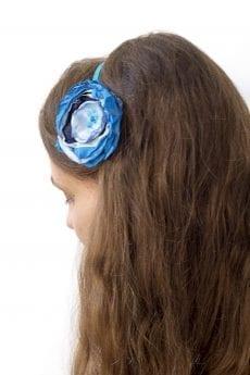 Dzikie Twory - opaska na włosy - z kwiatkiem9